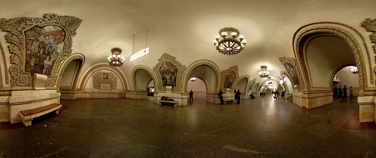 The Moscow Metro stations are absolutely beautiful.