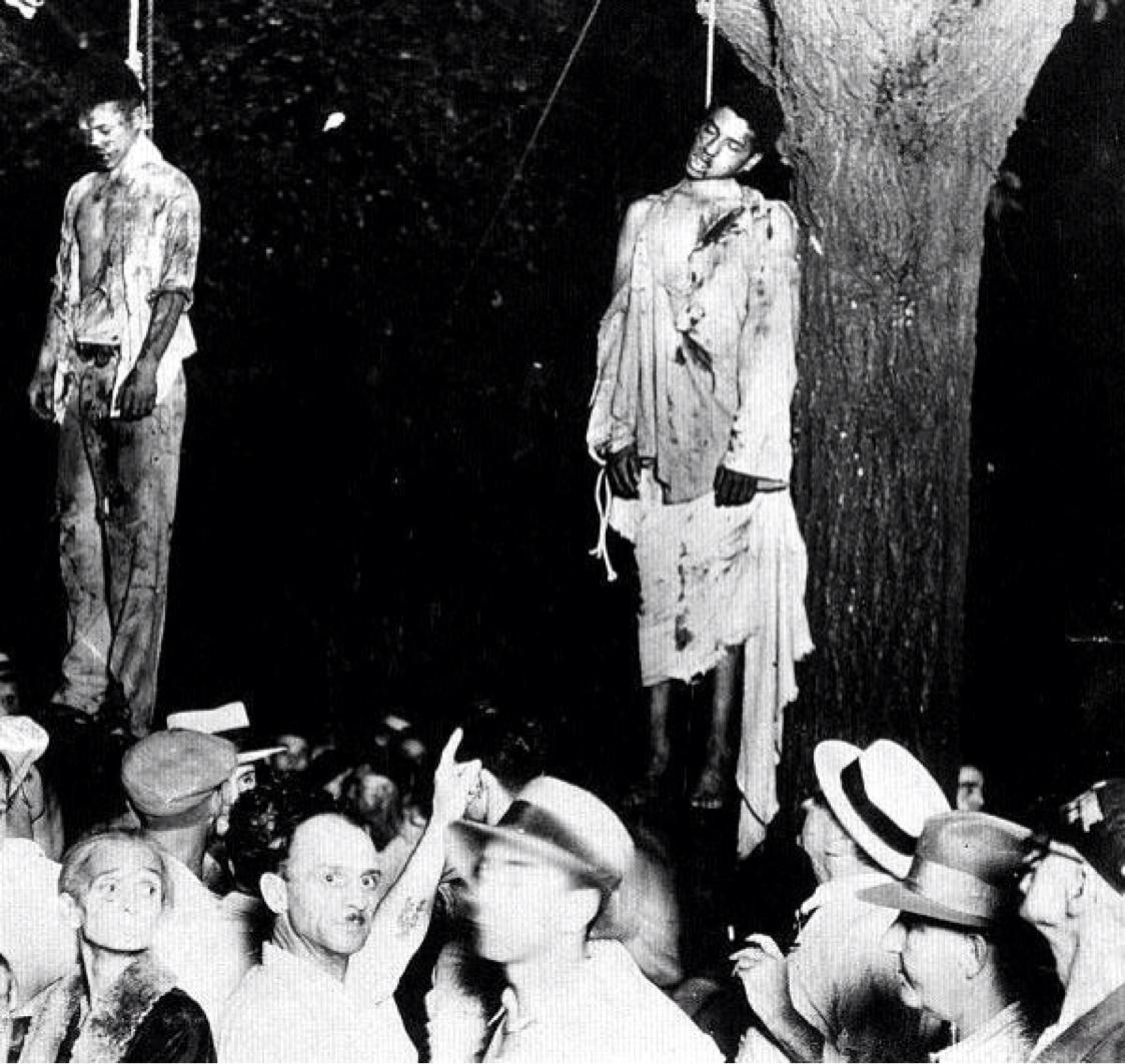 Томас Шипп и Абрам Смит , линчевали в Марион, штат Индиана 7 августа 1930